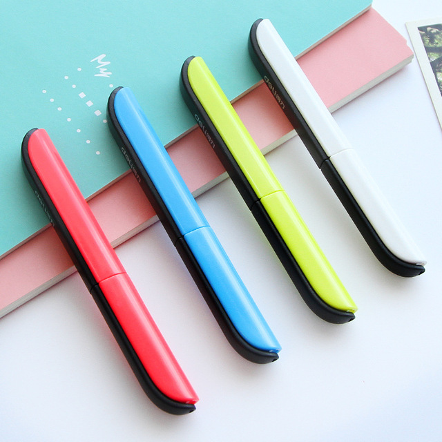 Candy Hidden Creative Pen Design Student Safe Scissors Paper Cutting Art Office School Supply with Cap Kids Stationery DIY Tool