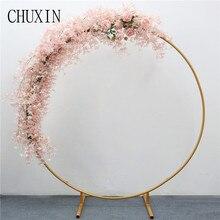 200cm מלאכותי יצוק ברזל עגול טבעת קשת דלת דקור סימולציה פרח שורה בית חג חגיגת חתונה צילום 1pc