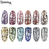 New 12pots Set Silver Glitter Dust Nail Powder Decoration Nail Glitter Powder For Nail Tools For
