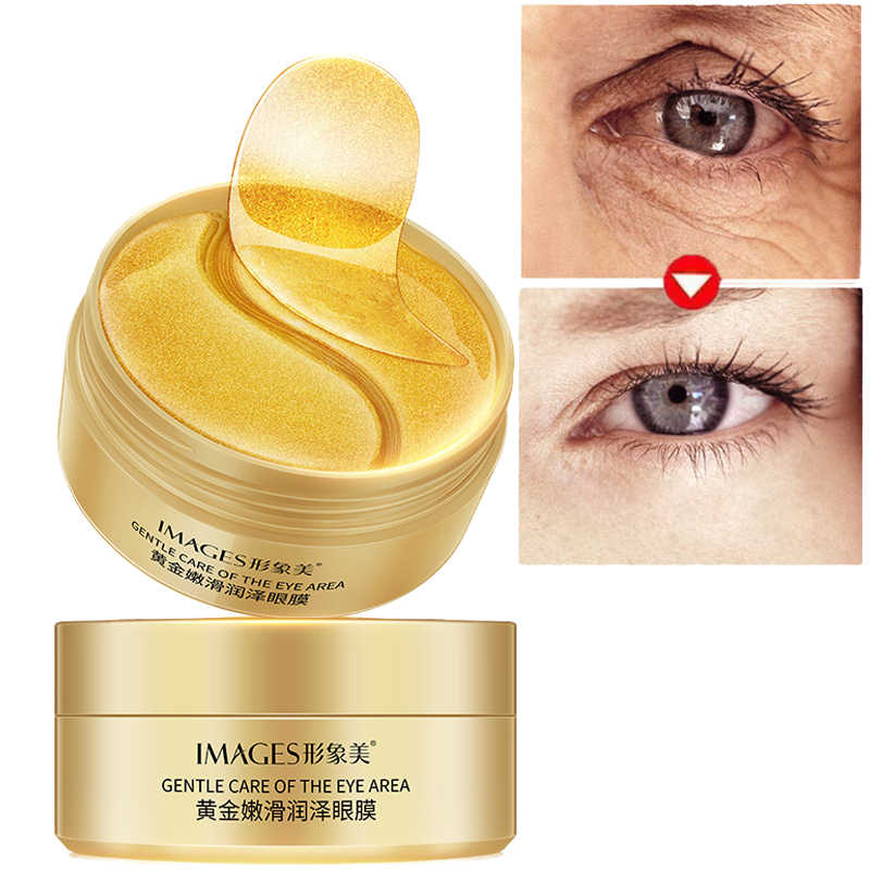 Moisturizing Black Pearl Collagen Gold Eye Mask 60pcs Anti Wrinkle  Remover Dark Circles Gel Eyes Patches Ageless Face Care Mask