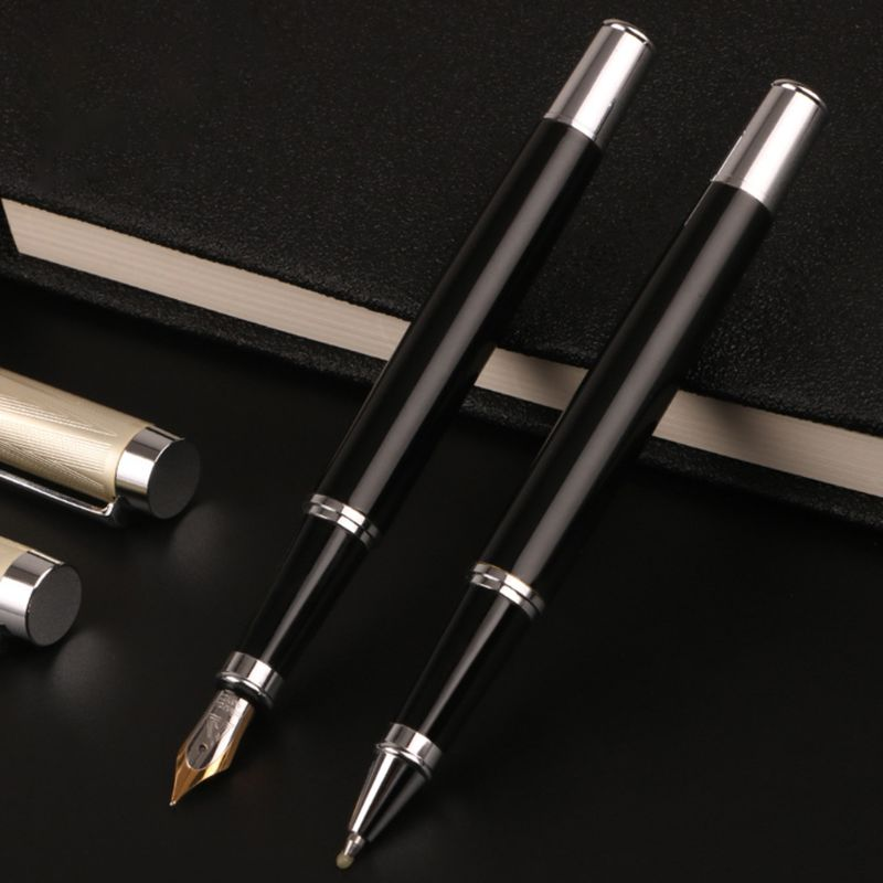 Luxury Metal Ballpoint Fountain Pen Business Student Writing Calligraphy Office School Supplies Pen/Ballpoint