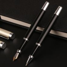 лучшая цена Luxury Metal Ballpoint Fountain Pen Business Student Writing Calligraphy Office School Supplies Fountain Pen/Ballpoint Pen
