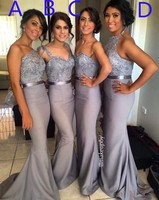 2017 hot 4 Styles Lace Crystal Satin Bridesmaid Gown Peach/Ivory/Champagne/Silver/Coral/Pink/Red Lace Bridesmaid Dresses TL786