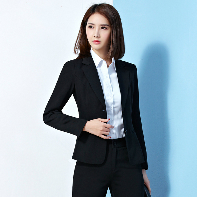 da3801cd39a 2018 Spring Autumn Office Coat Women Elegant Slim Fit Jacket Fashion Work  Wear Ol Ladies Outerwear