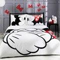 Disney der Cartoon Mickey Minnie 3D Druck Baumwolle Bettwäsche Set Bettwäsche Gehören Bettbezug Kissenbezug Drucken Home Textil Bett Linie