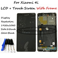 Black LCD + TP + Quadro Para Xiaomi Mi 4i mi4i m4i LCD exibir com Montagem Digitador Da Tela de Toque do Smartphone + Frete grátis ferramentas