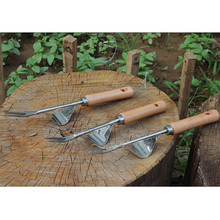 1 pcs Manual Weeder Fork Metal Hand Garden Wood Handle Digging Puller Weeding Tool Garden Transplanting Digging Tools#w