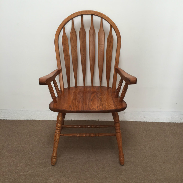 Oak Chairs With Arms ~ American dining chair armchair solid oak wood arrowback