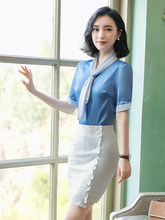 Professional woman suit 2019 new style fashionable temperament white-collar small fragrance hairdresser work clothes