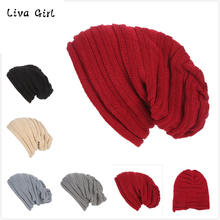 2017 Women New Design Caps Twist Pattern Women Winter Hat Knitted Sweater Fashion Beanie Hats For Women 6 Colors Gorros Caps14