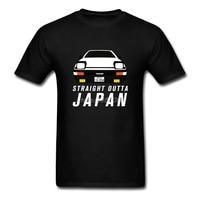 STRAIGHT OUTTA JAPAN AE86 T Shirt Boyfriend Clothes Cotton Crewneck Plus Size Short Sleeve Custom Initial