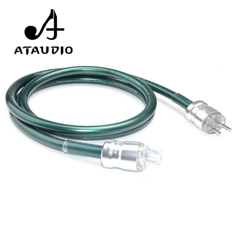 ATAUDIO Hifi OCC câble d'alimentation avec prise US cordon d'alimentation haute Performance pour alimenter le filtre platine vinyle amplificateur lecteur CD DAC