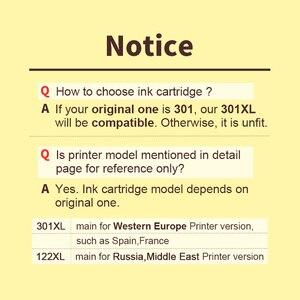 Image 5 - HWDID Nachgefüllt 301XL Tinte Patrone Ersatz für HP 301 XL CH561EE CH562EE für HP Deskjet 1000 1050 2000 2050 2510 envy 5530