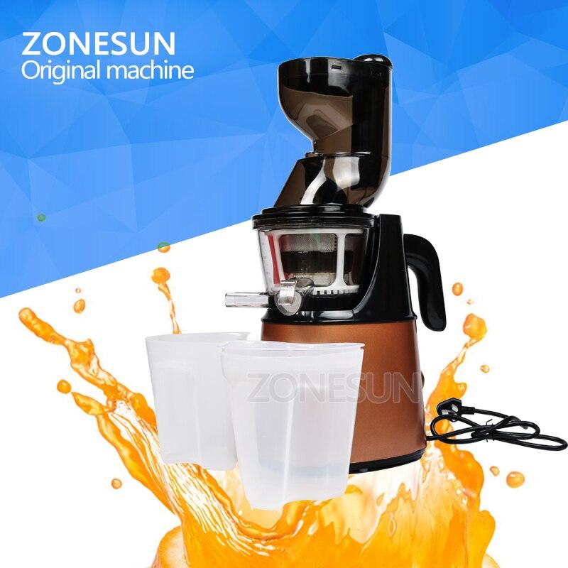 ZONESUN Electric Slow Juicer Household Fresh Fruit Juice Machine/Fruit Vegetable Juice Extractor owl fresh fruit wine e juice
