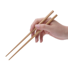 Natural wood Chinese chopsticks Dinnerware for food nice Wood Best gift big family of 2 kids long