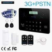 Homsecur беспроводный и проводной ЖК-дисплей 3g/GSM/PSTN SMS автодозвон охранной сигнализации Системы LC03-3g