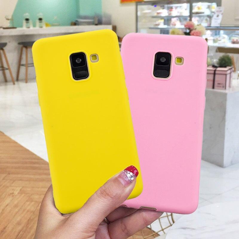 Soft-Case S7-Edge J4 Samsung Galaxy A7 A8 Plus Candy-Color for S8 S9 A6 J4/j6 J8 A3 A5
