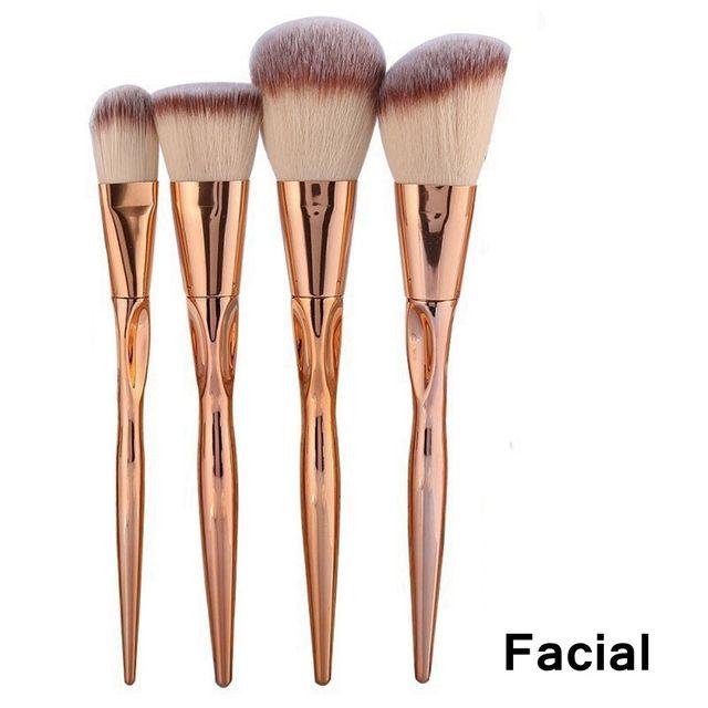 1/4Pcs Beauty Makeup Brushes Professional Eyeshadow Blush Makeup Brushes Loose Powder Brushes Eyes Facial Foundation Make up Kit Makeup Brushes