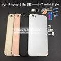 Для Iphone 5 5s SE Назад Жилищного как для Iphone 7 мини корпус Заднего Вернуться Корпус для Iphone 5s, как 7 стиль 7 мини-Джет Черный красный