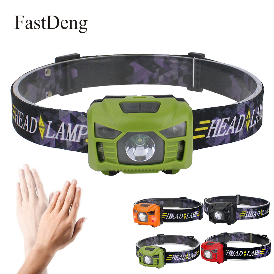 Mini Rechargeable LED HeadLamp Body Motion Sensor Mini Headlight <font><b>3000lm</b></font> Outdoor Camping Flashlight Head Torch Lamp With USB image
