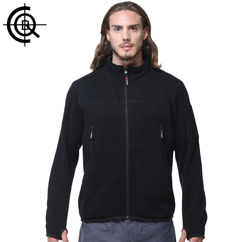 CQB Outdoor Fleece Jackets Australian Wool Men Warm Thermal Hiking Breathable Jacket Brand Windproof Camping Coat L-BKJ0023 rax 2015 thermal fleece hiking pants for men women winter outdoor sports warm fleece trousers fleece camping pants 54 4f089