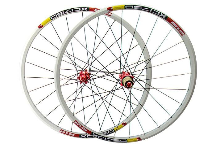 GUB 1750 26 MTB Mountain Bike Wheelsets 4 Bearing Hub white rim black red hub pillar spokes disc brake novatec d042sb mtb mountain bike rear hub 4 bearing disc brake 32 36 holes bicycle hubs with qr quick release