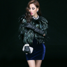 [soonyour] 2016 new winter fur coat short paragraph feather vest waistcoat vest shawl high-grade natural feathers B045