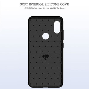 Image 4 - Soft Silicone Phone case For Xiaomi Redmi Note 6 Pro Carbon Xiomi Note6 Redmi6 Redmi6A Redmi6Pro 6A 6pro Rugged Armor TPU cover