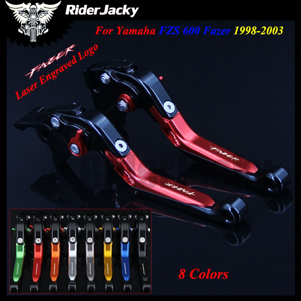 For Yamaha FZS 600 FZS600 Fazer 1998-2003 1999 2000 2001 2002 Red+Black CNC Motorcycle Accessories Adjustable Brake Clutch Lever free shipping cnc 6 position short brake clutch lever for honda x 11 1999 2000 2001 2002