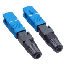 100PCS FTTH SC UPC single-mode fiber optic SC UPC quick connector FTTH Fiber Optic Fast Connector free shipping(China)