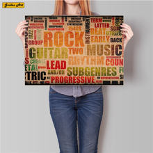 Music Rock Band vintage kraft paper poster bar cafe wall sticker print paint living room posters home decoration 45.5x31.5cm(China)