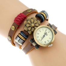 Retro Fashion Big Flower Women Quartz Watch Female Male Wristwatches Quartz Relogio Masculino Feminino Montre Femme