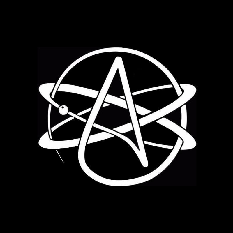 Art Logo Atheist Symbol Atheism Car Sticker For Motorhome Suv Window Motorcycles Door Laptop Car