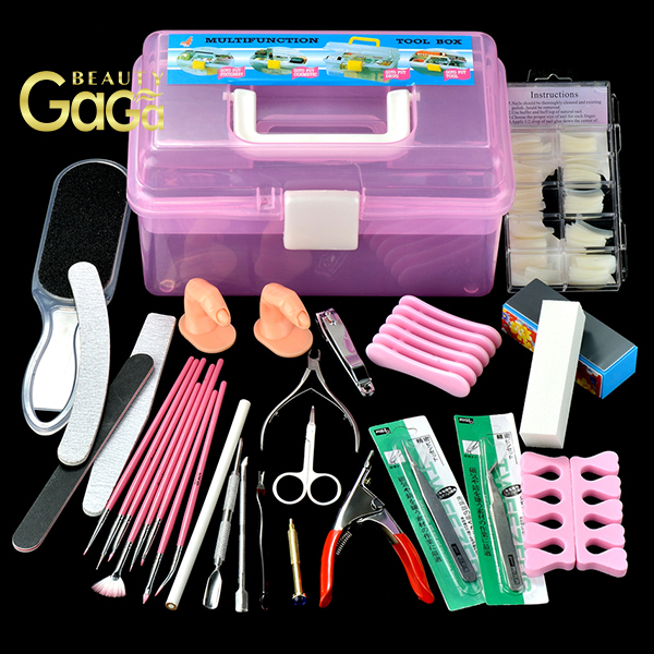 BeautyGaGa professional supply high level quality nail art design 23 tools  in 1 full set pedicure - BeautyGaGa Professional Supply High Level Quality Nail Art Design 23