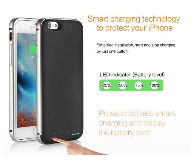 Бесплатная доставка 2016 Портативный банк силы Ультра Тонкий Внешнее Зарядное Устройство Чехлы для iphone6 6 s 2600 мАч, 6 6 s плюс 3200 мАч