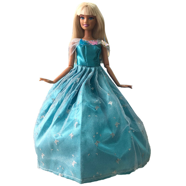 NK Satu Set Putri Gaun Pengantin Boneka Buatan Tangan Yang Indah Baju Pesta  Fashion Gaun untuk 6930959433