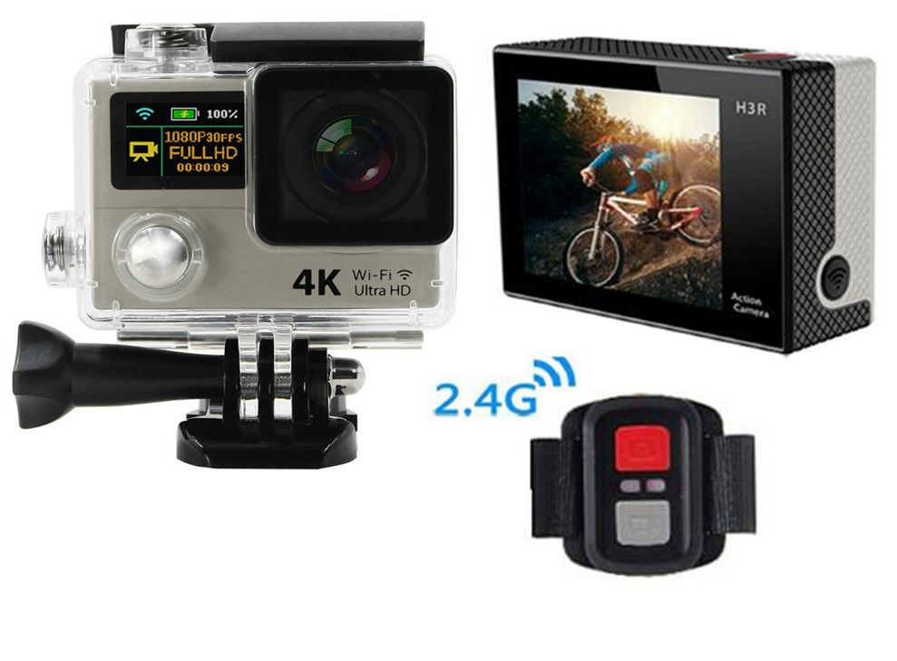 H3 Upgrated H3R Action camera Ultra HD 4K Video Sports Camera 170degree Wide Angle 2 Dual Screen Remote Control Camera cam vr360 panoramic camera wi fi remote control sports action camera