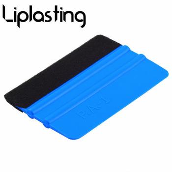 Vinyl ściągaczka folia z włókna węglowego Car Wrap narzędzie narzędzia do zaciemniania okien środek do usuwania kleju wody skrobak myjnia akcesoria 99x72mm tanie i dobre opinie Liplasting PP ABS Car foil scratch