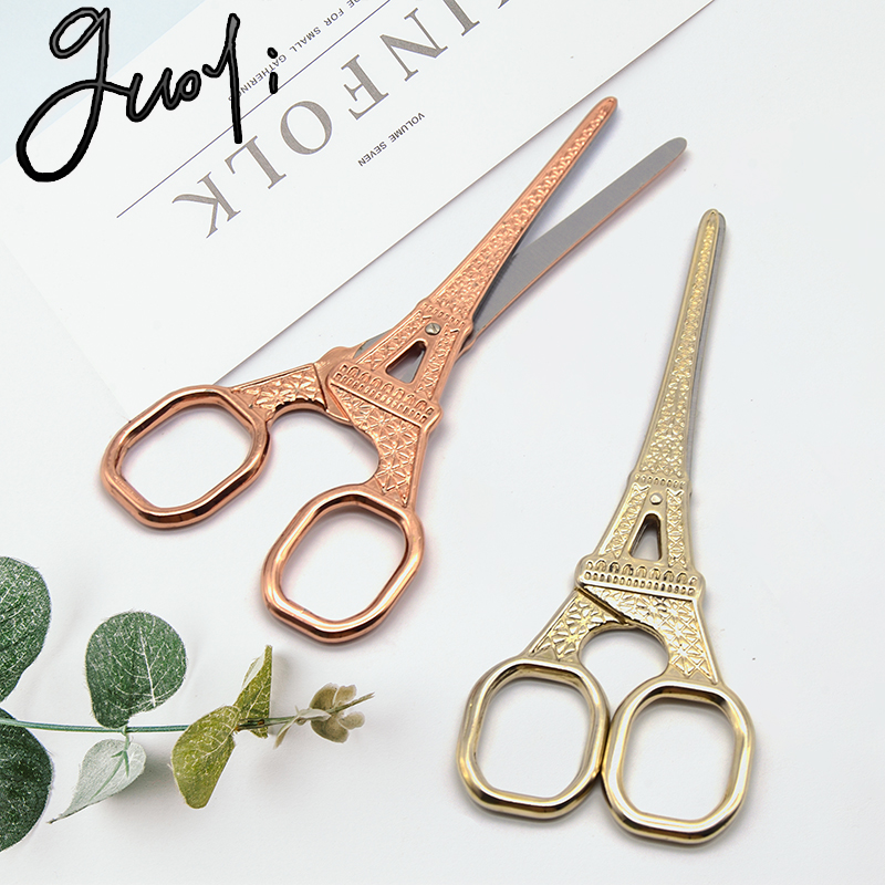 Guoyi G006 European Mini Tower Scissors Simple School Stationery Cutting Supplies Desk Storage Accessories