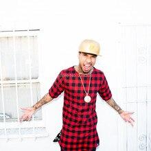 TYGA Rapper L K раскачивающаяся клетчатая рубашка тартан красная фланелевая рубашка Последние короли хип-хоп Футболка золотая молния негабаритных для мужчин размер США