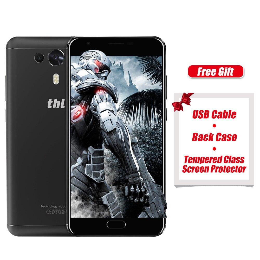 ¡En venta! THL Caballero 1 5,5 pulgadas HD pantalla 4G teléfonos inteligentes MTK6750T Octa core Android 7,0 3 GB RAM 32 GB ROM 3100 mAh en Stock teléfono