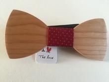 Unique wood bow tie for men