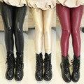 Кожаные штаны 4-14 Т девушки леггинсы Теплые Брюки для девочки Модные брюки Детская Одежда Осень Зима дети брюки