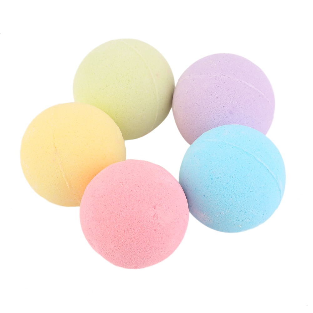 Small Size Home Hotel Bathroom Bath Ball Bomb Aromatherapy Type Body Cleaner Handmade Bath Salt Gift 40G Diameter: 4cm