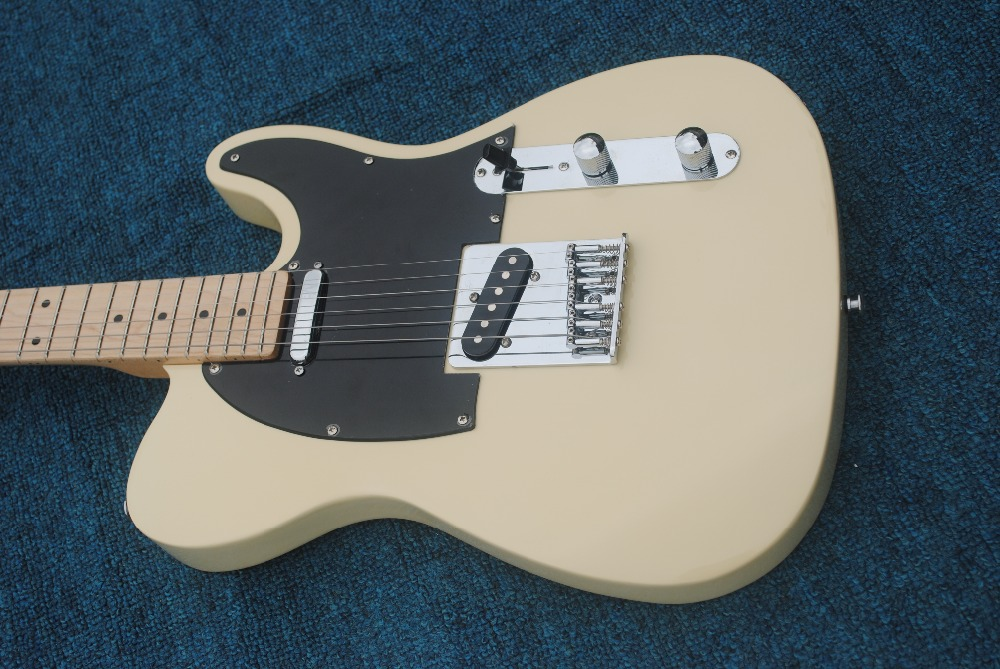 The best custom shop new! High quality milk yellow electric guitar, American standard TV electric guitar, electric guitar, elect
