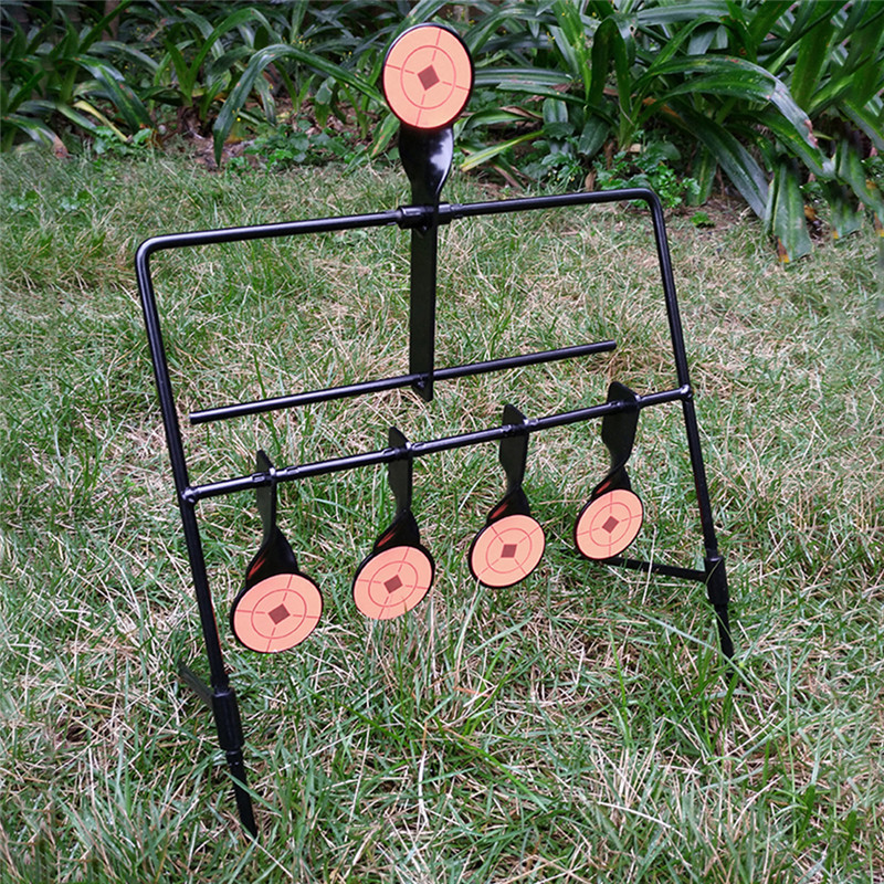 5-Plate Reset Archery Shooting Target Tactical BB Airsoft Paintball Hunting Target Indoor Outdoor Accessories high quality tactical outdoor view wind duck for hunting target cl38 0006