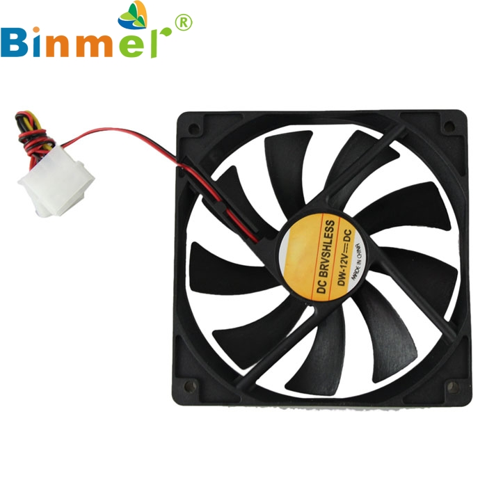 Computer Case Cooler 12V 12CM 120MM PC CPU Cooling Cooler Fan Oct24 nidec d12e 12ps2 01b 12038 120mm 12cm dc 12v 1 70a 12 cooling fan server inverter case cooler