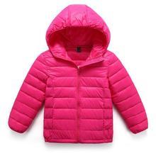 4-8T autumn winter children duck down jackets and coats boys girls outerwear coats cotton hooded kids jackets baby Brand Outwear