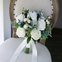 2019 New Arrival Bridal Bouquets Women Wedding Artificial Flower Bouquet Studio Wedding Photo Simulation Holding Flowers