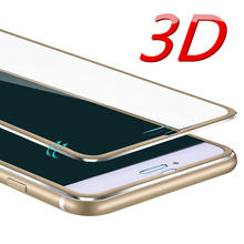 Vidrio Templado 3D 9 H para Iphone 6 7 8 5 5S SE cubierta de pantalla completa para Iphone 7 8 plus HD Protector película para IPhone X 6 S Plus 7 7(China)